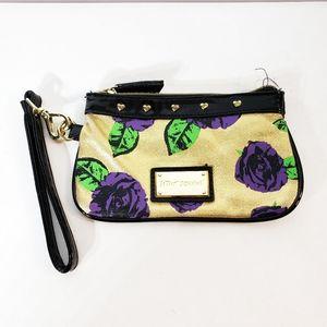 Betsey Johnson Wristlet Purple Floral